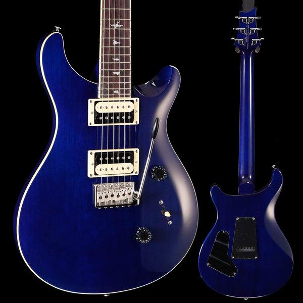 PRS PRS Paul Reed Smith SE Standard 24, Translucent Blue w Bag 153 7lbs 9.6oz