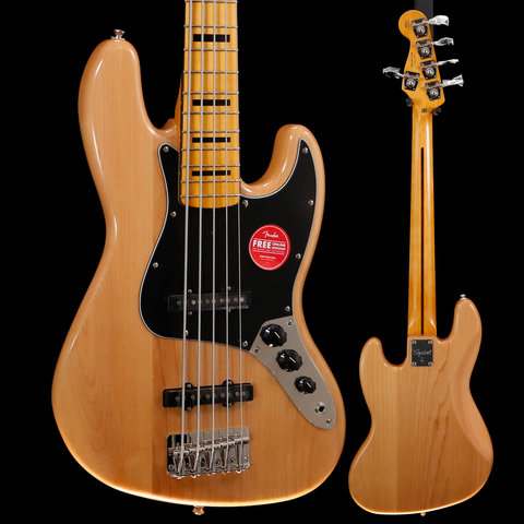 Squier Classic Vibe '70s Jazz Bass V, Maple Fingerboard, Natural ICS19210968 10lbs 3.1oz