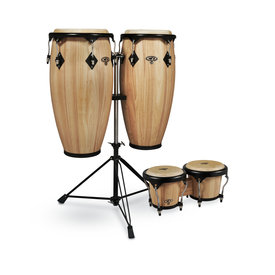 "CP CP by LP 11"" / 11 3/4"" Conga Set w Double Conga Stand & Free Bongos"