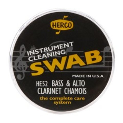 Herco HE52 Alto & Bass Clarinet Swab Synthetic Chamois Cloth
