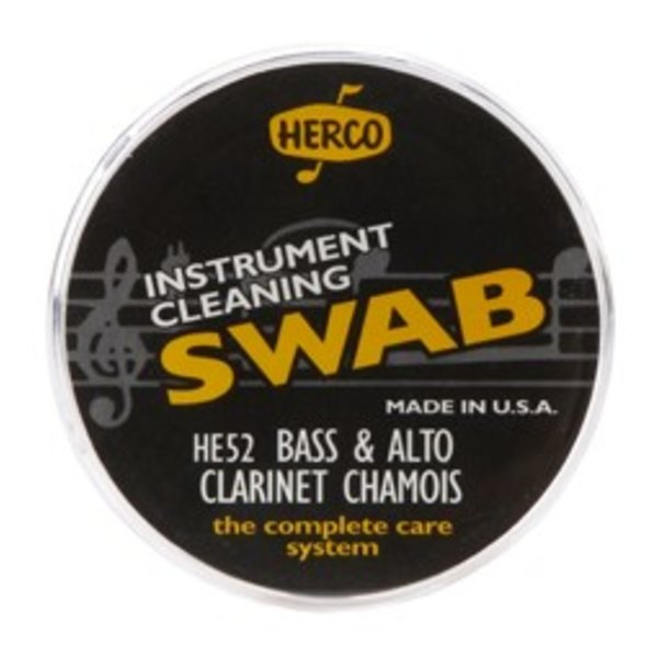 Dunlop Herco HE52 Alto & Bass Clarinet Swab Synthetic Chamois Cloth