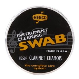 Dunlop Herco HE50P Clarinet Swab Synthetic Chamois Cloth