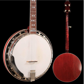 Gibson Steve Gill Neck on 1920's Gibson Ball Bearing Pot Banjo, Rim turned, fitted with Yates V33 Tone Ring