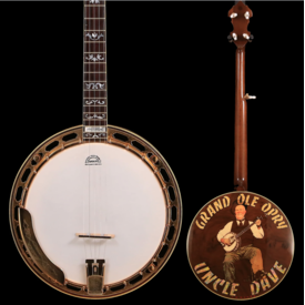 Gibson Greg Rich CW Mundy Gibson Custom Shop Banjo, Uncle Dave Macon Grand Ole Opry