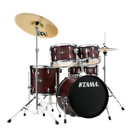 TAMA Tama IE52CBWW Imperialstar 5pc Kit w/Cymbals Burgundy Walnut Wrap