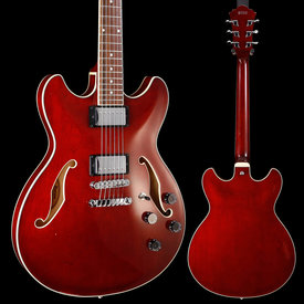 Ibanez Ibanez AS73TCR AS Artcore w Case, Transparent Cherry Red 663 7lbs 6.6oz