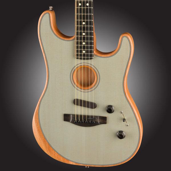 Fender PRESALE! Fender Acoustasonic Stratocaster, Ebony Fb, Transparent Sonic Blue