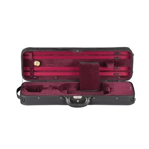 Heritage Deluxe Challenger Violin Case - Black/Red