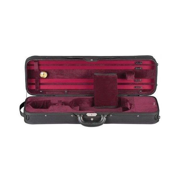 Heritage Heritage Deluxe Challenger Violin Case - Black/Red