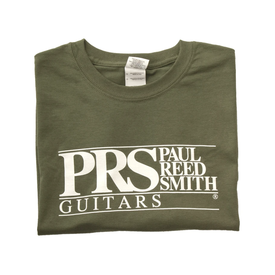 PRS PRS Paul Reed Smith Block Logo Tee, Short Sleeve Military Green, Medium