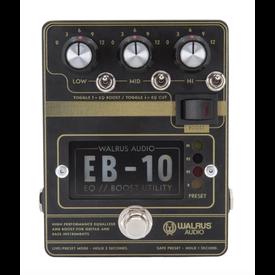 Walrus Audio Walrus Audio EB-10 Preamp//EQ//Boost Pedal, Black
