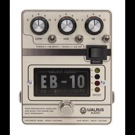 Walrus Audio Walrus Audio EB-10 Preamp//EQ//Boost Pedal, Cream