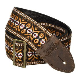 "Levy's Leathers Levy's M8HTV-20 2"" Jacquard Weave Vintage Hootenanny Guitar Strap"