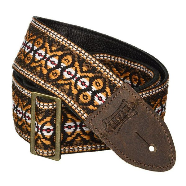 """Levy's Leathers Levy's M8HTV-20 2"""" Jacquard Weave Vintage Hootenanny Guitar Strap"""