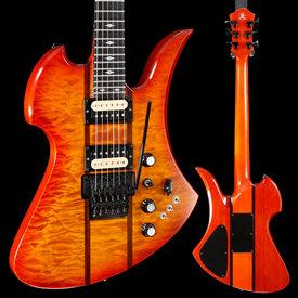 BC Rich BC Rich Guitars Mockingbird Legacy ST with Floyd Rose, Honey Burst 540 8lbs 6.8oz