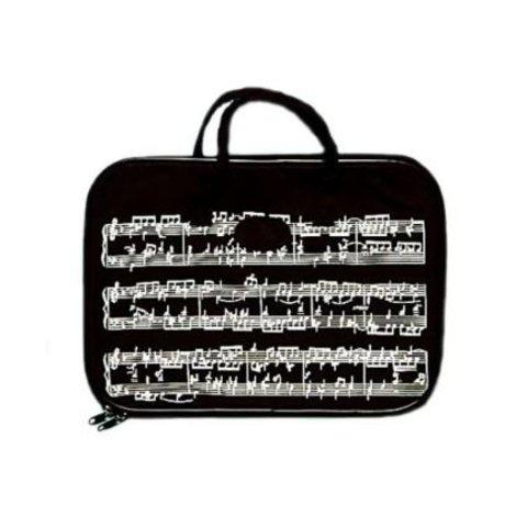Music Staff Black Briefcase