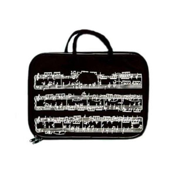 Music Treasures Co. Music Staff Black Briefcase
