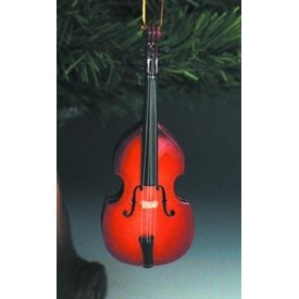 Music Treasures Co. Upright Bass Ornament Size  5""