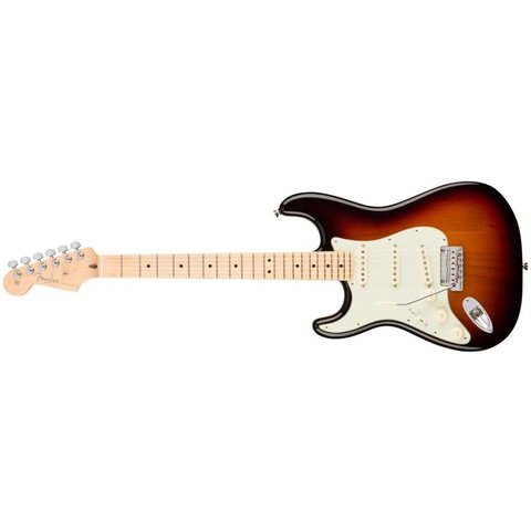American Pro Stratocaster Left-Hand, Maple Fingerboard, 3-Color Sunburst