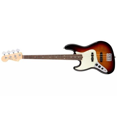American Pro Jazz Bass Left-Hand, Rosewood Fingerboard, 3-Color Sunburst