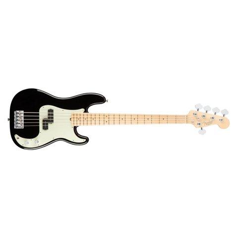 American Pro Precision Bass V, Maple Fingerboard, Black