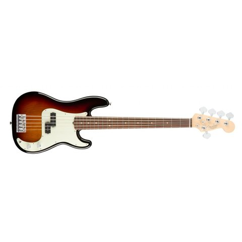 American Pro Precision Bass V, Rosewood Fingerboard, 3-Color Sunburst