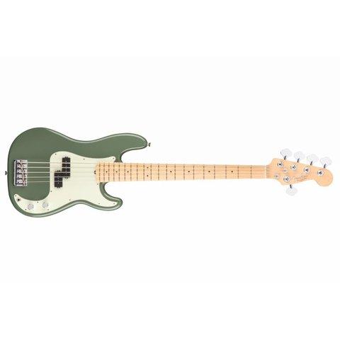 American Pro Precision Bass V, Maple Fingerboard, Antique Olive