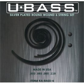 Kala Kala KA-BASS-4 Kala Metal Round Wound 4 String U-Bass Set