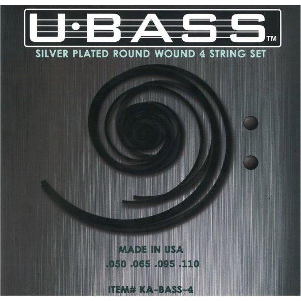 Kala Kala KA-BASS-4 Kala Metal Round Wound 4 String U-Bass Set