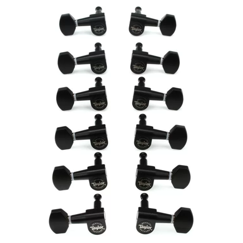 Taylor 181-12SB Guitar Tuners 1:18 Ratio, Satin Black