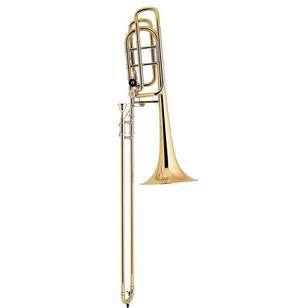 Bach Bach 50B3O Stradivarius Professional Bb/F/Gb Bass Trombone, Open Wrap