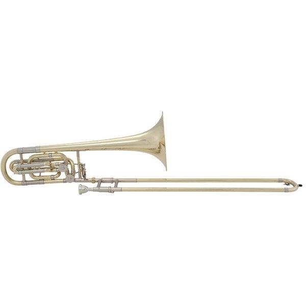 Bach Bach 50B2 Stradivarius Professional Bb/F/Eb Bass Trombone, Standard Finish