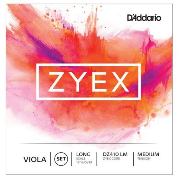 D'Addario Orchestral D'Addario Zyex Viola String Set, Long Scale, Medium Tension