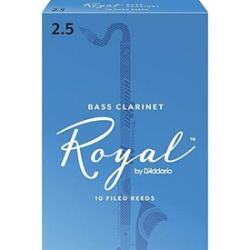D'Addario Woodwinds (Previously Rico) Royal by D'Addario Bass Clarinet Reeds, Strength 2.5, 10-pack