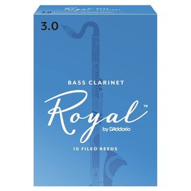 D'Addario Woodwinds (Previously Rico) Royal by D'Addario Bass Clarinet Reeds, Strength 3.0, 10-pack