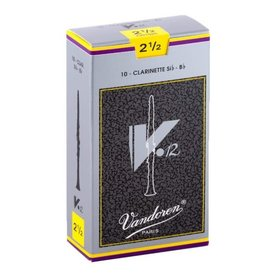 Vandoren Vandoren Bb Clarinet V.12 Reeds, Box of 10 Strength 2.5
