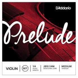 D'Addario Orchestral D'Addario Prelude Violin String Set, 1/4 Scale, Medium Tension