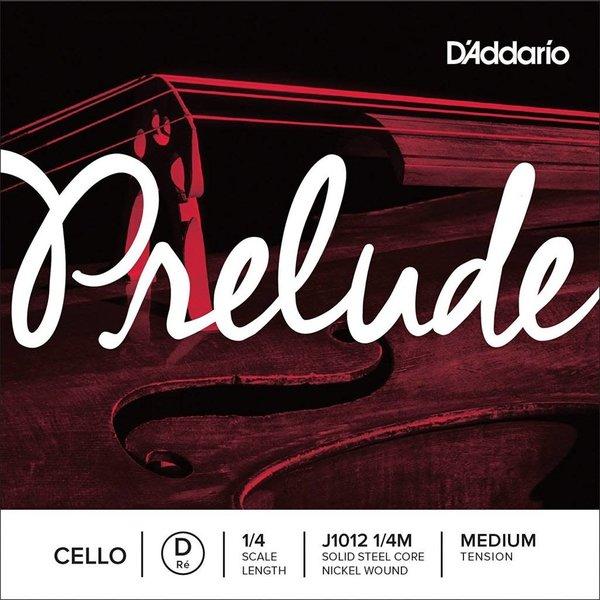 D'Addario Orchestral D'Addario Prelude Cello Single D String, 1/4 Scale, Medium Tension