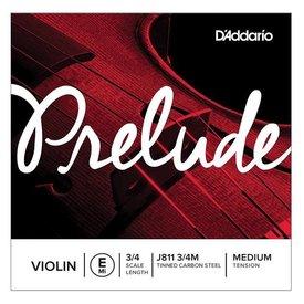 D'Addario Orchestral D'Addario Prelude Violin Single E String, 3/4 Scale, Medium Tension