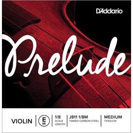 D'Addario Orchestral D'Addario Prelude Violin Single E String, 1/8 Scale, Medium Tension