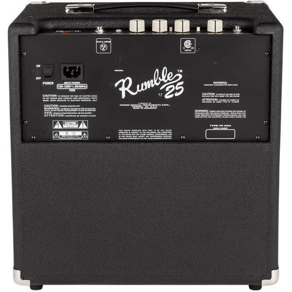 Fender Rumble 25 (V3), 120V, Black/Silver