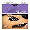 D'Addario Coated Phos Bronze Acoustic Bass Strings - Taylor GS Mini Scale, 37-90