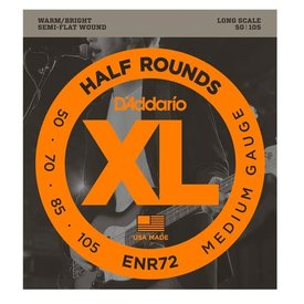 D'Addario D'Addario ENR72 Half Rounds Bass Strings Medium 50-105 Long Scale