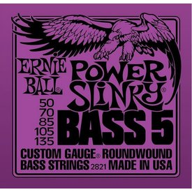Ernie Ball 2821 Ernie Ball Power Slinky Bass 5 String PURPLE