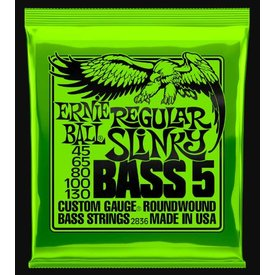 Ernie Ball 2836 Ernie Ball Regular Slinky Bass 5 String GREEN