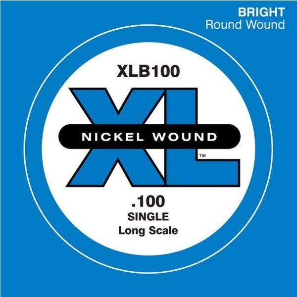 D'Addario D'Addario XLB100 Nickel Wound Bass Guitar Single String, Long Scale, .100