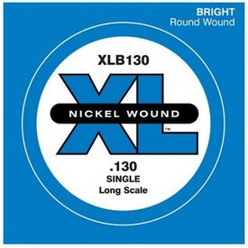 D'Addario D'Addario XLB130 Nickel Wound Bass Guitar Single String, Long Scale, .130