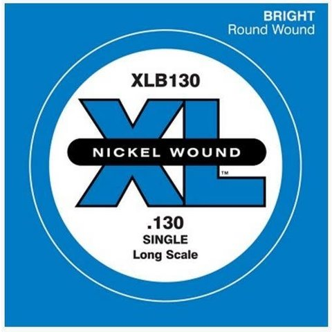 D'Addario XLB130 Nickel Wound Bass Guitar Single String, Long Scale, .130