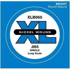 D'Addario D'Addario XLB065 Nickel Wound Bass Guitar Single String, Long Scale, .065