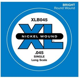 D'Addario D'Addario XLB045 Nickel Wound Bass Guitar Single String, Long Scale, .045